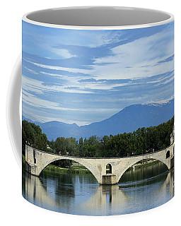 Saint Benezet Bridge Over The River Rhone. View On Mont Ventoux. Avignon. France Coffee Mug