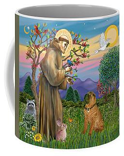 Saint Francis Blesses A Chinese Shar Pei Coffee Mug