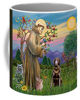 Saint Francis Blesses A Chocolate Labrador Retriever Coffee Mug
