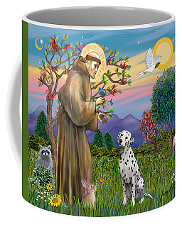 Saint Francis Blesses A Dalmatian Coffee Mug