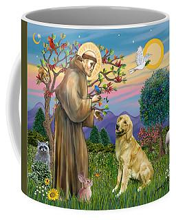 Saint Francis Blesses A Golden Retriever Coffee Mug