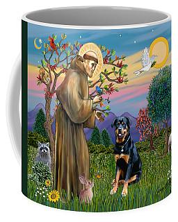 Saint Francis Blesses A Rottweiler Coffee Mug