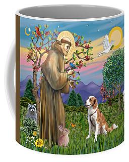 Saint Francis Blesses A Welsh Springer Spaniel Coffee Mug