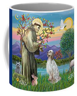 Saint Francis Blesses An English Setter Coffee Mug