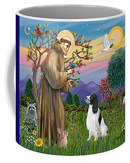 Saint Francis Blesses An English Springer Spaniel Coffee Mug