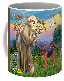 Saint Francis Blessing A Bloodhound Coffee Mug