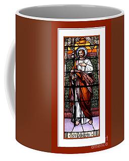 Coffee Mug featuring the photograph Saint Joseph  Stained Glass Window by Rose Santuci-Sofranko