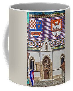 Saint Mark Church Facade Vertical View Coffee Mug