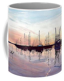Saint Marys Marina   Shadows Light And Fire Coffee Mug