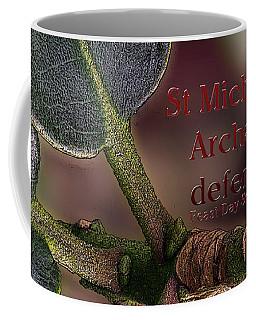 Coffee Mug featuring the photograph Saint Michael The Archangel by Jean OKeeffe Macro Abundance Art
