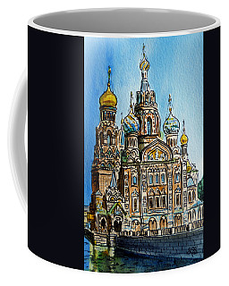 Saint Petersburg Russia The Church Of Our Savior On The Spilled Blood Coffee Mug