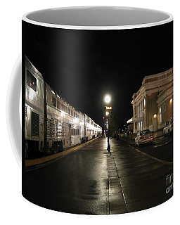 Salem Amtrak Depot At Night Coffee Mug