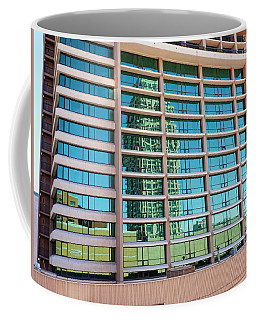 Coffee Mug featuring the photograph Salt Lake City Architecture Reflection by Ely Arsha