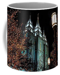 Salt Lake City Mormon Temple Christmas Lights Coffee Mug