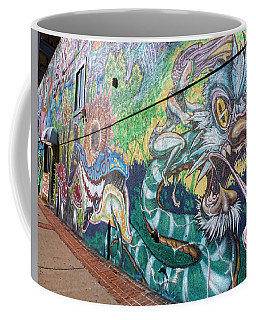 Coffee Mug featuring the photograph Salt Lake City - Mural 2 by Ely Arsha