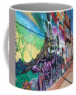 Coffee Mug featuring the photograph Salt Lake City - Mural 3 by Ely Arsha