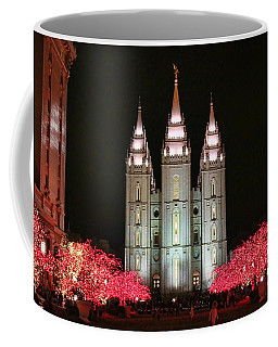 Coffee Mug featuring the photograph Salt Lake Temple - 1 by Ely Arsha