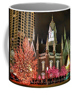 Coffee Mug featuring the photograph Salt Lake Temple - 3 by Ely Arsha