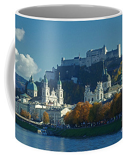 Salzburg Austria In Fall Coffee Mug by Rudi Prott