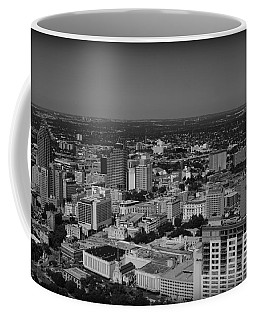 San Antonio - Bw Coffee Mug by Beth Vincent