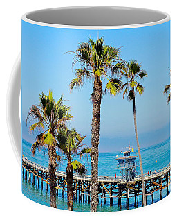 San Clemente Pier Coffee Mug by Suzanne Oesterling