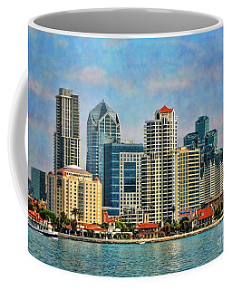 San Diego Skyline Coffee Mug by Peggy Hughes