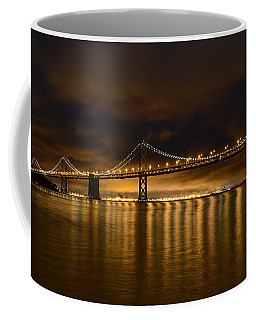 San Francisco - Bay Bridge At Night Coffee Mug