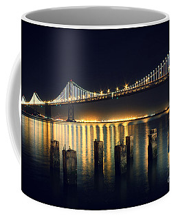 San Francisco Bay Bridge Illuminated Coffee Mug