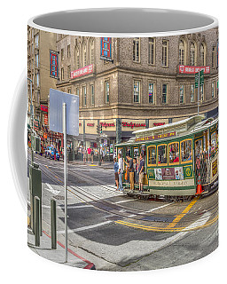 Coffee Mug featuring the photograph San Francisco Cable Car by Susan Leonard