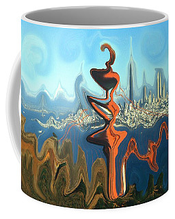 San Francisco Earthquake - Modern Art Coffee Mug