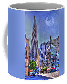 San Francisco Transamerica Pyramid And Columbus Tower View From North Beach Coffee Mug