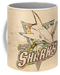 San Jose Sharks Vintage Poster Coffee Mug