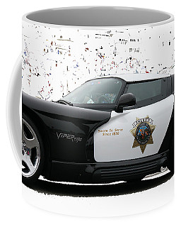 San Luis Obispo County Sheriff Viper Patrol Car Coffee Mug