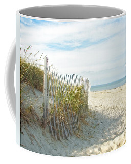Sand Beach Ocean And Dunes Coffee Mug by Brooke T Ryan