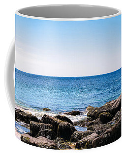 Sand Beach Rocky Shore   Coffee Mug