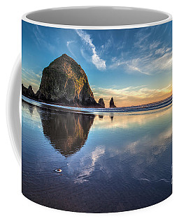 Sand Dollar Sunset Repose Coffee Mug by Mike Reid