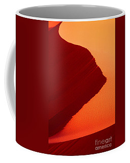 Coffee Mug featuring the photograph Sand Dune Curves Coral Pink Sand Dunes Arizona by Dave Welling