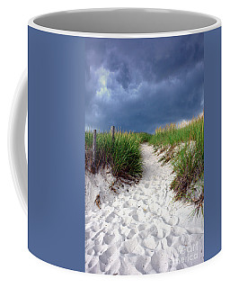 Coffee Mug featuring the photograph Sand Dune Under Storm by Olivier Le Queinec