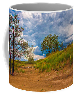 Sand Dunes At Indian Dunes National Lakeshore Coffee Mug