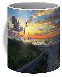 Sand Dunes On The Seashore At Sunrise - Carolina Beach Nc Coffee Mug