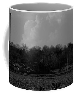 Sand Hill Cranes With Nebraska Thunderstorm Coffee Mug