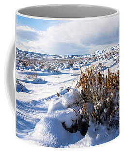 Sand Wash Basin In The Winter Coffee Mug by Nadja Rider