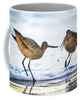 Sanderlings Playing At The Beach Coffee Mug