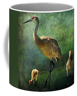 Sandhill And Chicks Coffee Mug