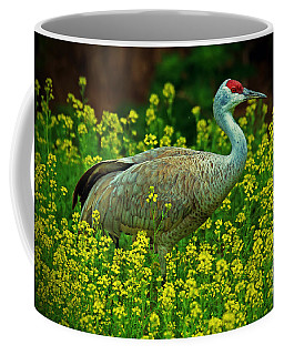 Sandhill Crane Coffee Mug by Elizabeth Winter