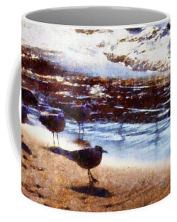 Sandpiper Brigade Coffee Mug by Janine Riley