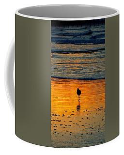 Sandpiper In Golden Dawn Surf Coffee Mug