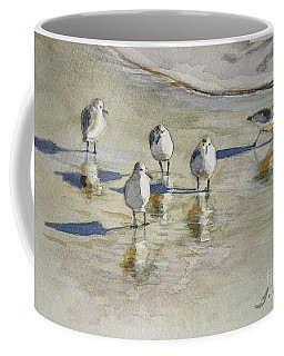 Sandpipers 2 Watercolor 5-13-12 Julianne Felton Coffee Mug