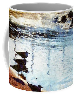 Sandpipers At The Shore Coffee Mug by Janine Riley