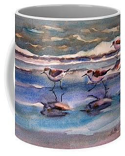 Sandpipers Running In Beach Shade 3-10-15 Coffee Mug